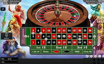 Age of The Gods Roulette Table